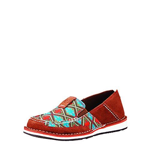 Ariat Women's Cruiser Slip-on Shoe, Saddle Tan Suede, 6.5 B US