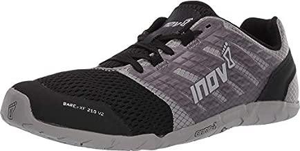 Inov-8 Womens Bare-XF 210 V2 - Barefoot Minimalist Cross Training Shoes - Zero Drop - Wide Toe Box - Versatile Shoe for Powerlifting & Gym - Calisthenics & Martial Arts - Grey/Black 9.5 W US