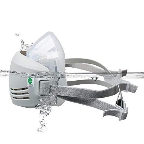 Respiratore per mezza faccia ONEWDJ, protezione per gli occhi con filtro, protezione delle vie respiratorie, maschere di protezione dalla polvere industriali, maschere antigas (con 5 filtri)