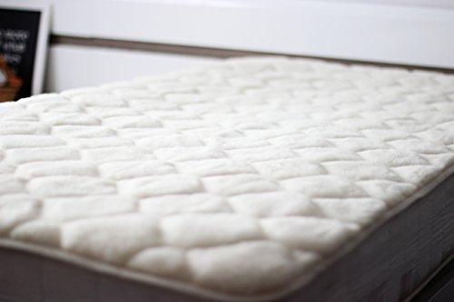 Merino Wool Pura Lana Protector de colchón 150 x 190 cm de Caro Cachemira 150/190cm con Correas elásticas en Las Esquinas Cubre