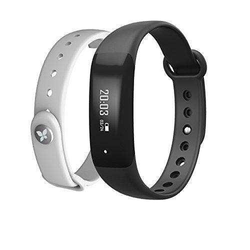 Prixton at600 fitnessarmband met Bluetooth, 0,5 inch, zwart/wit