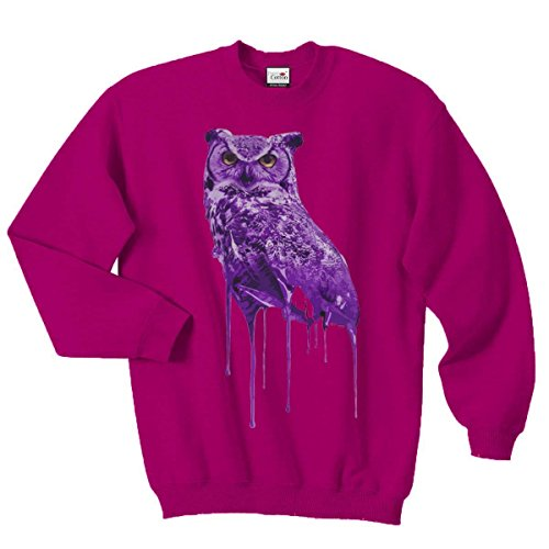 Ovoxo Sweatshirt Jumper Eule Drake Lil Wayne YMCMB Swaetshirt Fresh Dope Herren Damen Gr. L / 104,14-109,22 cm, rose