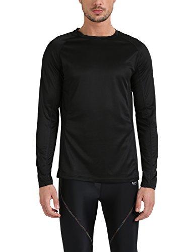 Lower East Le235, Camisa Manga Larga para Hombre, Negro (Schwarz Schwarz), Medium