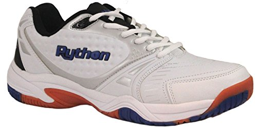 Python Men's Deluxe Indoor (Low) Racquetball Shoe (Non-Marking) 10.0 (D) US White