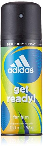 adidas Get Ready! Deo Bodyspray – Das Deospray vereint tropische Früchte mit aromatischen Hölzern & sorgt für erfrischende Momente – pH-hautfreundlich – 1 x 150 ml