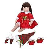 Adopta el Proceso de Pintura Manual muñecas Reborn, muñeca de Silicona, diseño único para niños, Accesorios de fotografía para el hogar, Dormitorio(Red)