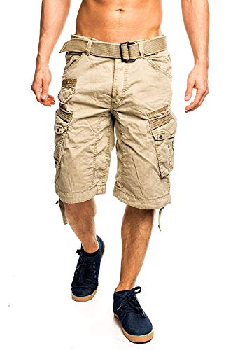 Geographical Norway Uomo Cargo Short People - Beige, M