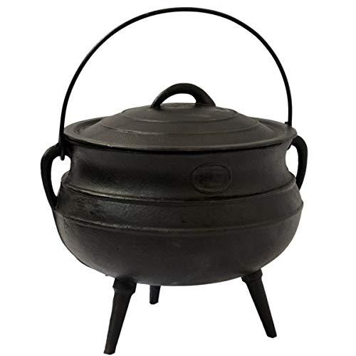 QEM Marmite ou Chaudron en Fonte Alimentaire de 14 litres