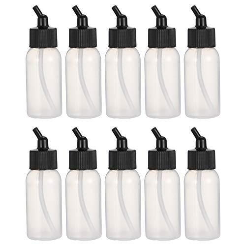 PIXNOR 10 Botellas de Pintura con Aerógrafo de 35Ml Botella Rellenable para Artistas Botella Cuentagotas de Plástico Botellas de Plástico Botella de Pegamento para Líquidos