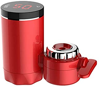 WHL.HH Small Mini Installation-Free Energy-Saving Electric Water Heater, Instant Electric Hot Water Tap for Kitchen and Bathroom,Red