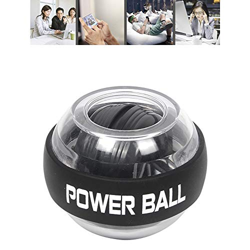 SSeir LED Lights Wrist Powerball Gyroscopes, Strengthener Arm Training Equipment Power Exerciser Rehabilitation Rotation Ball Decompression Toy