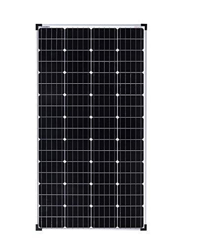 enjoy solar® monocristalino de 150W 36V Panel solar de módulo solar ideal para sistema fotovoltaico de caravana de autocaravana de jardín de 24V