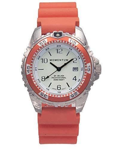 Momentum - Reloj deportivo de cuarzo para hombre y mujer, resistente al agua, fácil de leer, esfera luminosa blanca, fecha, corona de tornillo, bisel, cristal de zafiro, japonés Mvmt | analógico