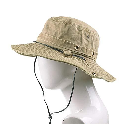 N/N Bucket Hat Tactical Sniper Hats Militärarmee Kampfkappen Sonnenschutzfischjagd Sun Boonie Hüte Airsoft Caps Für Summer-Khaki