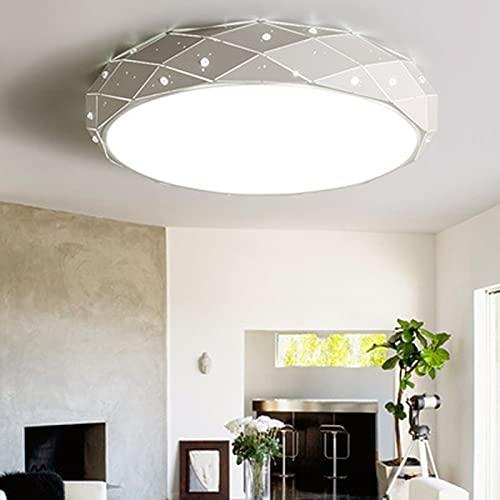 DSFFD - Plafoniera LED a intensità regolabile, colore della luce e luminosità regolabili, plafoniere a LED rotondi, moderni da incasso con telecomando, 3000-6000 K, 30 cm