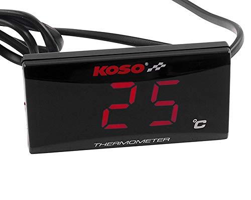 KOSO Thermometer Digital SUPER SLIM rot Öltemperatur Wassertempereatur Anzeige