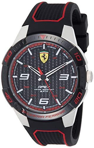 Ferrari Reloj Analógico para Hombre de Cuarzo con Correa en