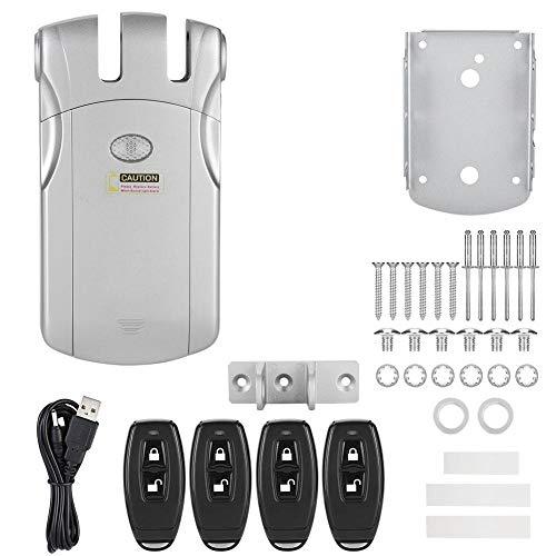 MAGT Cerradura electrónica de Control Remoto, WAFU Seguridad inalámbrica Invisible Cerradura de...