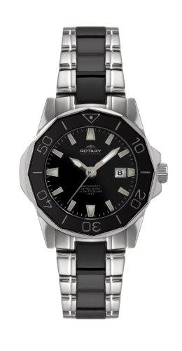 Rotary Damen-Armbanduhr XS Aquaspeed Analog Quarz Verschiedene Materialien ALB00030/W/BLK