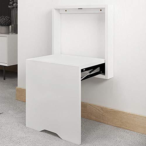 Folding Chairs Cambio de Puerta Zapatero Silla Plegable Oculta montada en la Pared baño Ducha Silla Plegable Madera Maciza Taburete Antideslizante Porche Pasillo Taburete Plegable