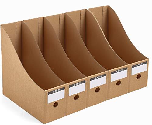 Panavage ファイルボックス A4 紙 収納ボックス 小物入れ ファイルスタンド 書類ケース 机上収納ボックス ...