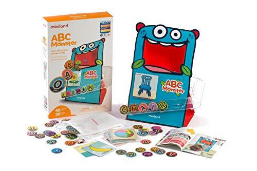 Miniland- ABC Monster Monstruo tragabolas. Juego de lenguaje para niños, Multicolor (31977) , color/modelo surtido