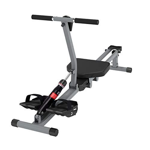 soges Máquina de remo para interiores Máquina de ejercicios de remo para interiores con monitor digital para gimnasios en el hogar Fitness y entrenamiento cardiovascular Negro YKTH-PM-B