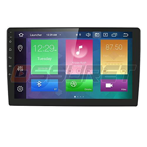 Android 10 autoradio universale lettore multimediale da 9 pollici 64 GB + 4 GB di navigazione GPS per auto Bluetooth WiFi hotspot DAB + subwoofer USB SD