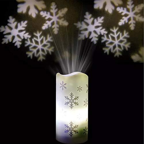 Lampe de projection, LED flocon de neige, Projecteur LED de Noël, Lampe de projection d'Halloween, Décoration intérieure pour Halloween, Noël, Pâques, anniversaire, fête
