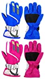 Camlinbo Kids Winter Gloves (Blue+Rose, Kids(One size))