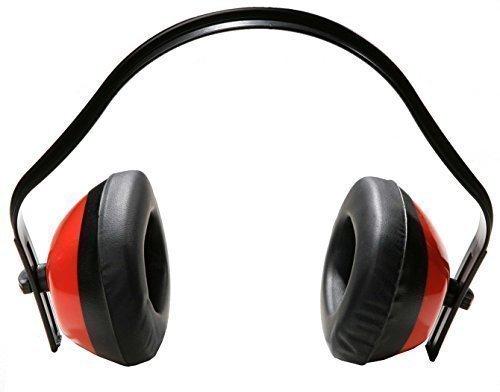 Gehoorbescherming met beugels, rood, zwart