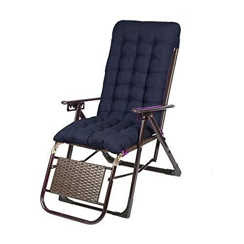 YLCJ Chaise longue Opvouwbare fauteuils Opvouwbare rieten stoel Lunch break Siesta bed Kantoorbed Zomerstrandstoel Opvouwbaar (kleur: BROWN) Zwart