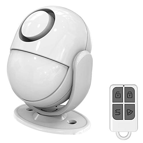 Motion Sensor wireless alarm with Siren, Anti-Burglar Alarm System with Remote Control - Infrared DIY PIR Motion Detector Burglar Alarm System -125dB - Battery/USB charging Operated - Expandable