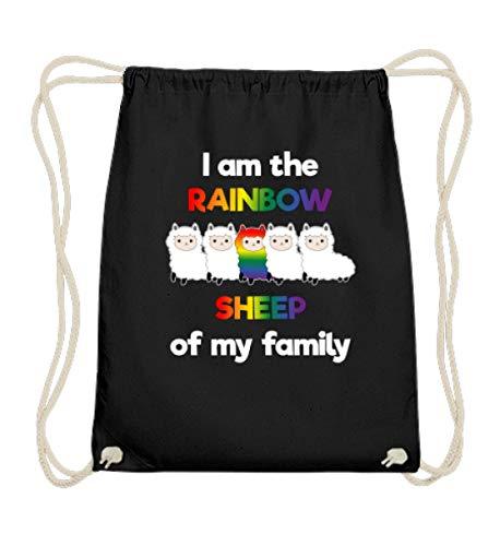 double critical LGBT Shirt Rainbow Sheep Schwul Lesbisch Gay Pride Shirts Regenbogen Homosexuell Kleidung - Baumwoll Gymsac
