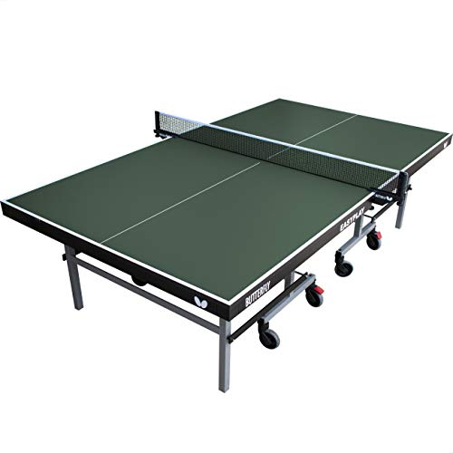 Butterfly Easyplay 22 Table Tennis Table | Ping Pong Table for Indoor use | 10 Minute Quick Assembly Ping Pong Table | Sturdy Table Tennis Table | Ping Pong Net Included, green