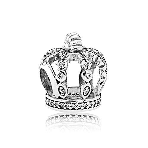 Fit Original Pandora Bracelets 925 Sterling Silver Charm Bead Aristocracy Fairy Tale Crown Women Bangle Diy Jewelry Gift