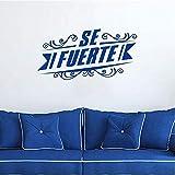 Autocollant mural amovible en vinyle avec citation de l'Espagne 30 x 55 cm