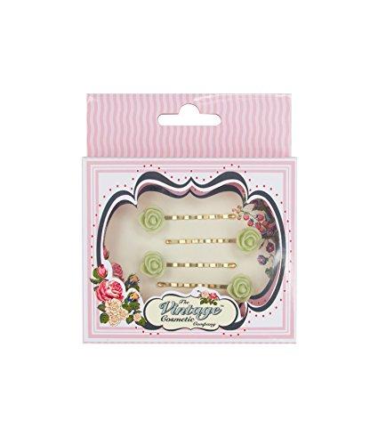 The Vintage Cosmetic Company 4 Petite Fleur Vert épingles