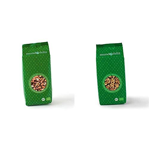 Mundo Feliz Nussmischung aus Bio-Anbau, 2 x 500 g & Walnushälften aus Bio-Anbau, 3 x 300 g