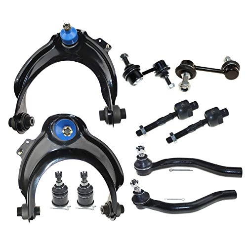 DLZ 10 Pcs Front Suspension Kit-2 Upper Control Arm 2 Lower Ball Joint 4 Tie Rod End 2 Sway Bar Compatible with Accord 2.4L 2003 2004 2005 2006 2007, Acura TSX 2004 2005 2006 2007 2008 K80228