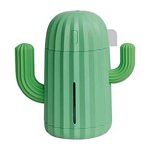 Magent Humidificador Mini Air Humidifier/Desktop Humidificador / Cool Mist Humidificador 340 ml, 1200 mAh, Actualización de Cactus, con luz nocturna LED, USB, 79 x 140 x 147 mm