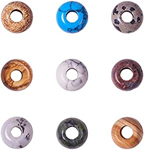 PandaHall 20 unidades de piedras preciosas redondas europeas