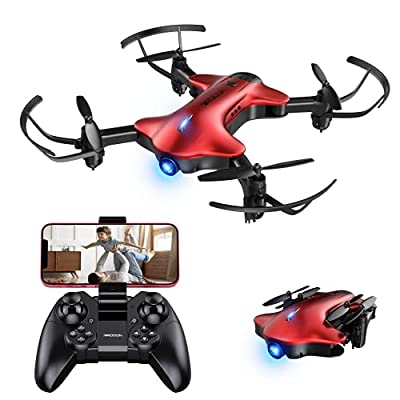 DROCON Spacekey Drone with Camera 1080P FHD, FPV Drone for Kids Beginners Adults, RC Quadcopter Drone Gravity Control, Trajectory Flight, Headless Mode, Altitude Hold, One-key Return, Fordable Arms