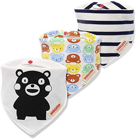 Voor baby en peuters 3 stuks katoenen babysjaal muslin spuugdoek bandana slabbetje pasgeboren baby babykleinkindwintersjaal waterdicht slabbetje P