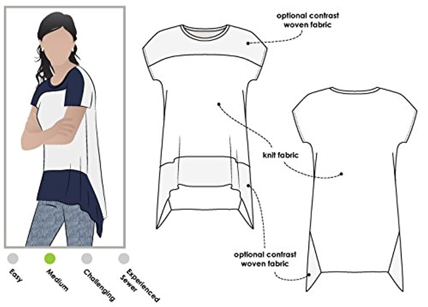 Style Arc Sewing Pattern - Maris Top (Sizes 04-16) - Click for Other Sizes Available