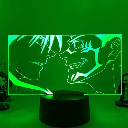 Regalos para niños Anime Jujutsu Kaisen Ryomen Sukuna Figura lámpara 3D LED luz nocturna para habitación de cumpleaños Ryomen Sukuna noche decoración de dormitorio luz de ambiente alta