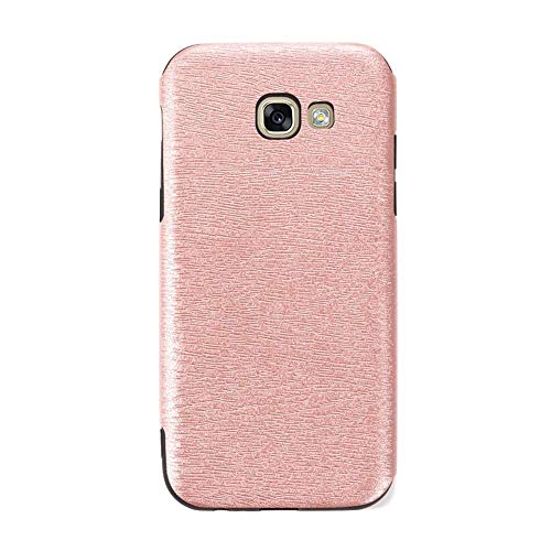 Capa para Samsung Galaxy A5 2017 A520, capa traseira de couro de poliuretano termoplástico macio resistente a arranhões e à prova de choque, capa protetora de corpo inteiro luxuosa para Samsung Galaxy A5 2017 A520 (ouro rosa)
