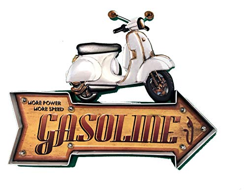 Diilihiiri Retro Vintage Tin Sign Metaal voor Bar Garage Amerikaanse, Benzine scooter