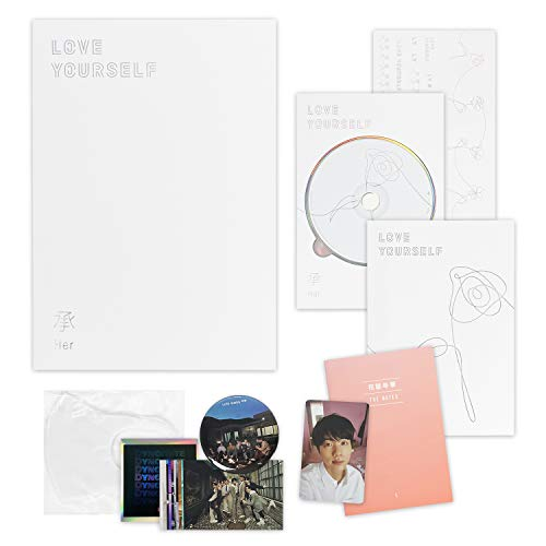 BTS 5th Mini Album - LOVE YOURSELF 轉 HER [ L ver. ] CD + Photobook + Mini Book + Photocard + Sticker Pack + Folded Poster + FREE GIFT / K-POP Sealed