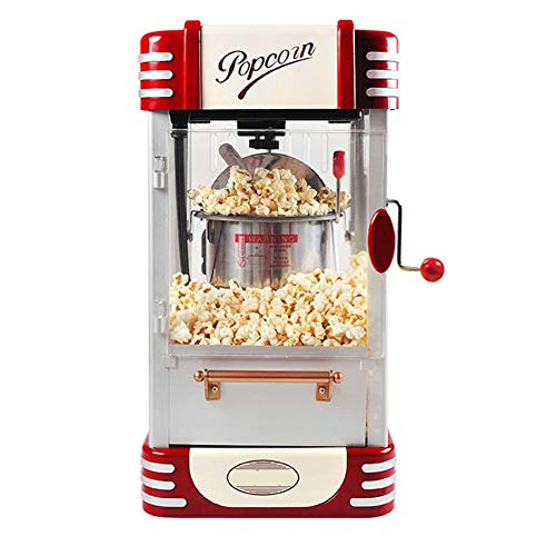 Great Deal! ZRXRY Hot Air Popcorn Maker, Old Fashioned Kettle Popcorn Cart with Timing Button, Whole...